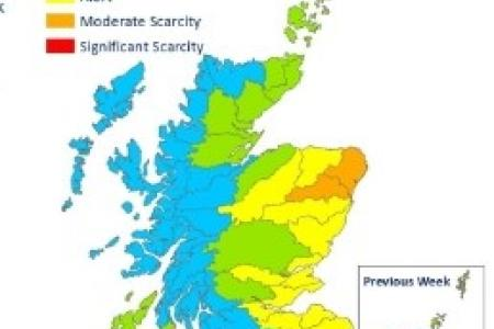 SEPA Water Scarcity Map - July 16th 2020