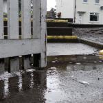 Urban rain puddle