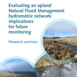 Evaluating an upland NFM hydrometric network